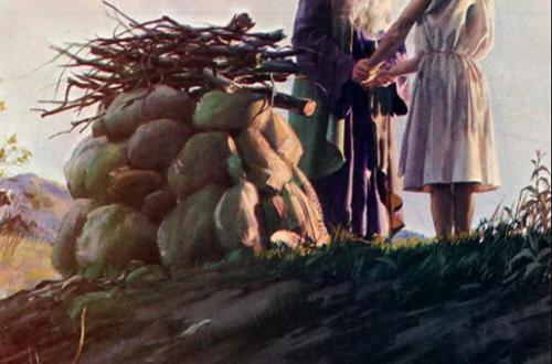 Reflexión del sacrificio de Isaías