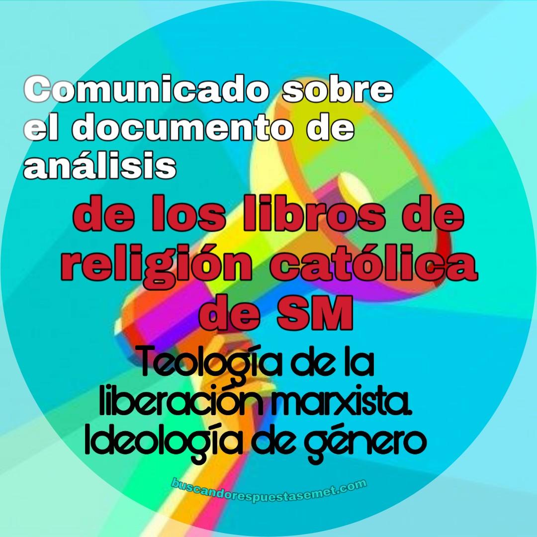 Teología de la liberación marxista y la ideologia de género en los libros de religión y moral católica SM