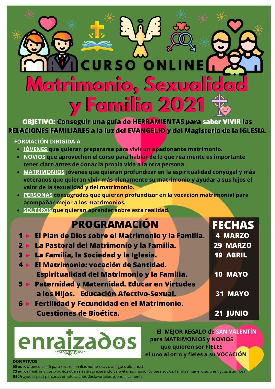 curso Online Matrimonio, sexualidad, Familia
